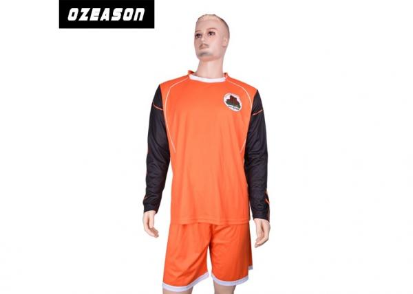 Quality Custom Designs Sublimated Football Jerseys Long Sleeve Retro Goalkeeper Shirt for sale