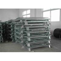 China silver white Foldable Wire Mesh Cages for Warehouse Storage Corrosion protection wholesale