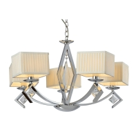 Buy cheap 5 Lights Modern Minimalist Fabric Cloth Transparent Glass Chandelier from wholesalers