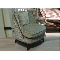 China Comfortable Luxury Wooden Wingback Chair / Fabric Upholstered Club Chair wholesale