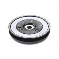 China Black Flanged Pulley Guide With Ceramic Coating / Bearing Wire Guide on sale
