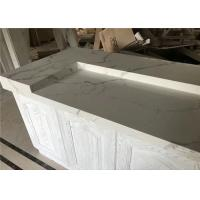 China Modern House Prefab Kitchen Countertops Calacatta White Quartz Bar Top wholesale