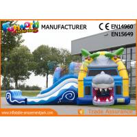 Buy cheap Multiplay Shark Inflatable Bouncy Slide Jumping Castles Inflatable Water Slide from wholesalers