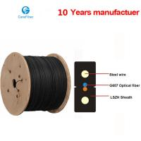 Buy cheap One Core Indoor Drop Cable Bow-type GJXH Steel Wire Optical Fiber Cable from wholesalers