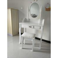 China Wholesale white small wooden dressing table with drawer wholesale