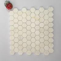 "China Super White First Qualtiy Natural Stone Mosaic Hexagon 2"" Dolomite Mosaic Tile For Backsplash wholesale"