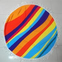China Factory custom your own design summer round beach towel circle beach towel customize towel on sale