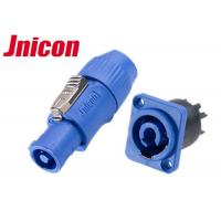 China LED Adapter Waterproof Circular Power Plug Blue Color UL / CE Certification on sale