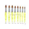 China Pointed Lemon Yellow Kolinsky Acrylic Nail Brush Professional wholesale