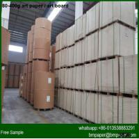 China High Gloss 80gsm Coated Art Paper for magazine printing wholesale