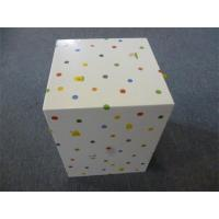 Personalized Rectangular Paper Gift Boxes decorated Polyester Ribbon