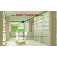 China Panel Furniture for Pharmacy Store Display racks with Glass Showcase and Counters for in Led light with wholesale