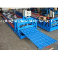 China 1000 mm Galzed Tile Roll Forming Machine Colorful Roofing Sheet Making Machine on sale