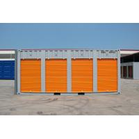 China steel storage container,20ft storage container  with  rolling shutter door, customised color,China on sale