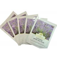 China Powdered Skin Care Silk Facel Mask With Serum Lavender Extract wholesale