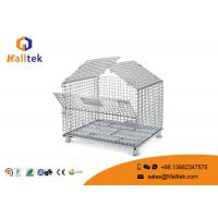 China Durable Zinc Plated Wire Mesh Storage Containers With Lid Security Mesh Box on sale