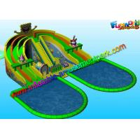 Buy cheap Outdoor Spongebob Inflatable Slide Colorful With Water Pool Games from wholesalers