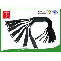 China Black Long durable hook and loop buckle straps , hook and loop cinch straps  A grade wholesale