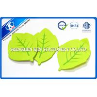 China Green Memo desktop sticky notes Leaf Shaped For Kids , post sticky notes on sale