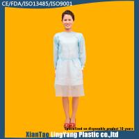 China PP Impervious Disposable Medical Gowns , Disposable Sterile Gowns Anti Alcohol on sale