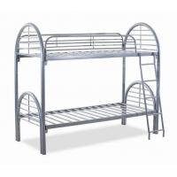 China Silver metal bunk bed, twin twin bunk bed, steel metal bed frame wholesale