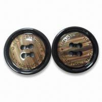 China Resin Buttons with Laser Logo, Lead- and Phthalates-free, CPSIA/Oeko-Tex 100 Standards wholesale