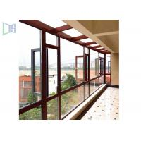 Space Saving Aluminium Casement Windows Grills Design Anti Aging For Building