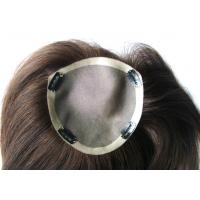 Light Brown Straight Swiss Lace Top Closure Toupee 8 Inch Chinese Human Hair