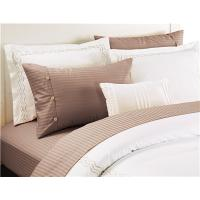 China Polyester Cotton Sheets Set Sateen Stripe Bedsheets Set 4pcs Solid Color on sale