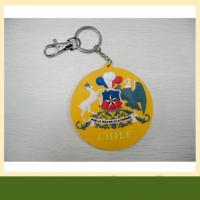China High quality garment pvc rubber keychain also silicone Keychain wholesale