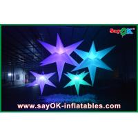China White Polyester Cloth Inflatable Led Star Lighting 1.5m / 2m For Party on sale
