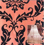 China Flocking Dupioni Fabric for window curtain fabric wholesale