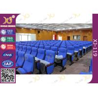 China Injection Molded Foldable Lecture Room Theatre Seating Chairs With Writing Tablet wholesale
