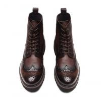 China Fashion Ankle Genuine Warm Leather Boots , Work Shoes For Men Lace Up Closure Type wholesale