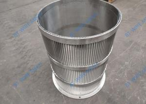 China Sieve Tube 316l Wedge Wire Screen Filter 0.2mm - 1.0mm Slot wholesale