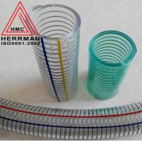 China PVC Steel Wire Hose Clear Spring Reinforced Hose for Agricultural Equipment wholesale