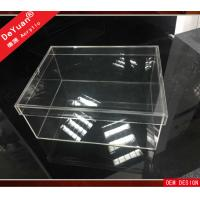 China Clear Perspex / Acrylic Shoe Box For Storage And Display 30 x 21 x 16cm on sale