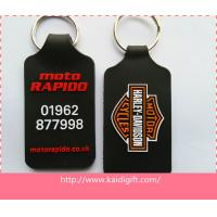 double sides PVC key ring key chains