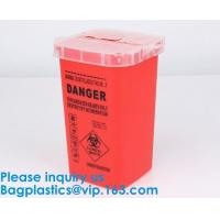 China Biohazard Plastic Sharps Container,Hospital Biohazard Medical Needle Disposable Plastic Safety Sharps Container on sale