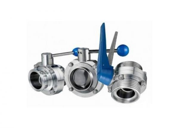 Quality Hygienic Stainless Steel Sanitary Butterfly Valve , Tri Clamp Butterfly Valve For Food for sale