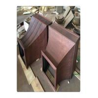 China Smooth Surface Copper Cooker Hood , Custom Copper Range Hoods For Gas Stoves wholesale