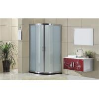 China Silding Quadrant Shower Cubicles with  Bright Silver Aluminum Frame on sale