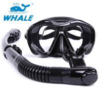 Quality Black Food Grade Diving Snorkel Set With Full Flex Section And Comfortable Mouth for sale