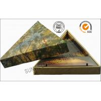China Triangle Handmade Mounting Custom Printed Corrugated Boxes With Hard Insert Cardboard wholesale