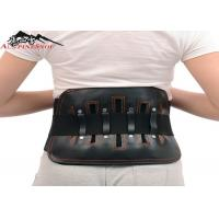 China Leather Sports Lumbar Support Belt For Back Pain , S - XL Size Custom wholesale
