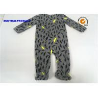China Thunder AOP Baby Boy Pram Suit Microfleece Footie Zipper Closure Coverall wholesale