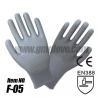 China Gray PU Dipped Gloves, Anti-static wholesale