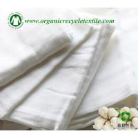 China China Organic cotton Muslin White Fabric2Layer Gauze for Swaddle Diaper bib. wholesale