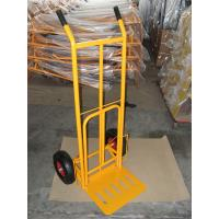 China Foldable Pneumatic Tyre Hand Trolley (HT1827) RUBBER WHEEL TYRE TIRE GARDEN TOOL CART on sale