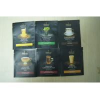 China 3-side Coffee Bags Packaging Small Black Matte Finish Zipper on sale